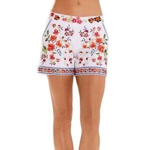 Boston Proper Embroidered Shorts